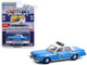 1982 Plymouth Gran Fury Light Blue White Top NYPD New York City Police Department Hot Pursuit Series 37 1/64 Diecast Model Car Greenlight 42950 B