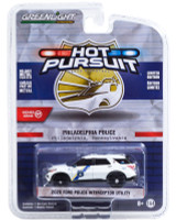 2020 Ford Police Interceptor Utility White Stripes Philadelphia Pennsylvania Police Hot Pursuit Series 37 1/64 Diecast Model Car Greenlight 42950 F