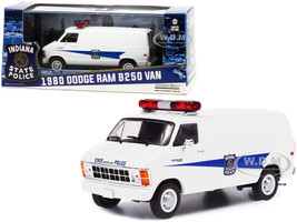 1980 Dodge Ram B250 Van White Indiana State Police 1/43 Diecast Model Greenlight 86599