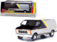 1980 Dodge Ram B250 Van Silver Black Street Van 1/43 Diecast Model Greenlight 86600