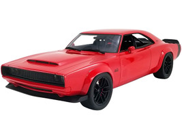 1968 Dodge Super Charger Concept Red Black Tail Stripe USA Exclusive Series 1/18 Model Car GT Spirit ACME US036