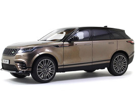 Land Rover Range Rover Velar First Edition Brown Metallic Black Top 1/18 Diecast Model Car LCD Models LCD18003
