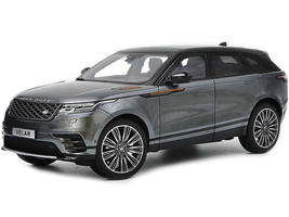 Land Rover Range Rover Velar First Edition Gray Metallic Black Top 1/18 Diecast Model Car LCD Models LCD18003
