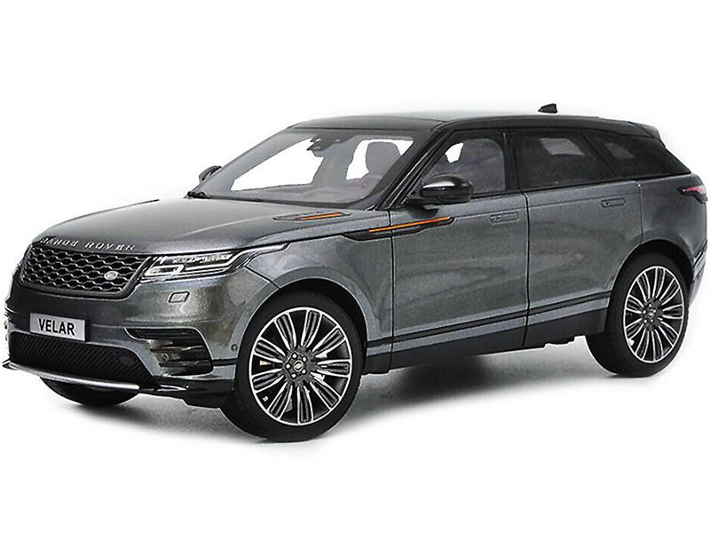 Land Rover Range Rover Velar First Edition Gray Metallic Black Top 1/18 Diecast Model Car LCD Models LCD18003