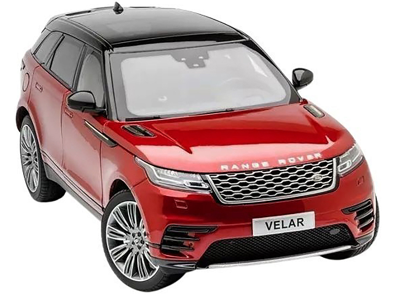 Land Rover Range Rover Velar First Edition Red Black Top 1/18 Diecast Model Car LCD Models LCD18003