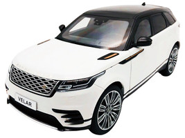 Land Rover Range Rover Velar First Edition White Black Top 1/18 Diecast Model Car LCD Models LCD18003