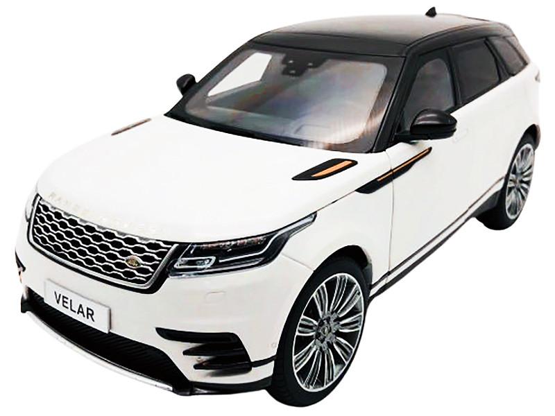 Land Rover Range Rover Velar First Edition White Black Top 1/18 Diecast Model Car LCD Models LCD18003