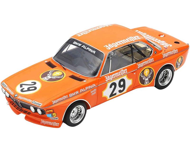 BMW 3 CSL #29 Winner Lauda Muir 24H Nurburgring 1973 1/18 Model Car Spark 18S413