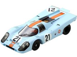 Porsche 917K #21 Rodriguez Kinnunen Gulf Oil 24H Le Mans 1970 1/18 Model Car Spark 18S418
