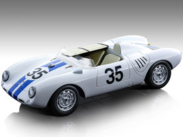 Porsche 550 A #35 Hugus De Beaufort 24 Hours Le Mans 1957 Mythos Series Limited Edition 120 pieces Worldwide 1/18 Model Car Tecnomodel TM18-141A