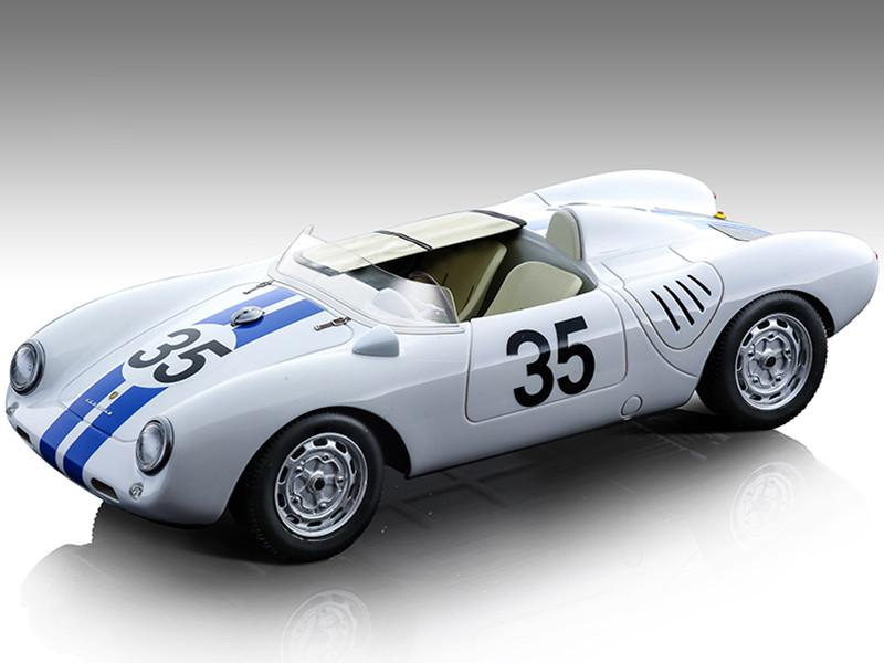 Porsche 550 A #35 Hugus De Beaufort 24 Hours Le Mans 1957 Mythos Series Limited Edition 120 pieces Worldwide 1/18 Model Car Tecnomodel TM18-141A