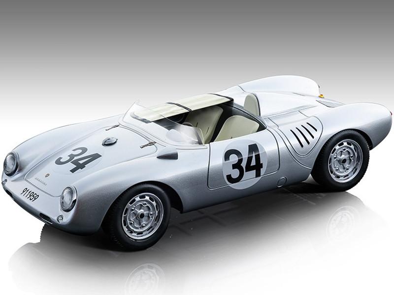 Porsche 550 A #34 Storez Crawford 24 Hours Le Mans 1957 Mythos Series Limited Edition 80 pieces Worldwide 1/18 Model Car Tecnomodel TM18-141B