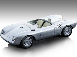 1957 Porsche 550 A Silver Press Version Mythos Series Limited Edition 90 pieces Worldwide 1/18 Model Car Tecnomodel TM18-141D