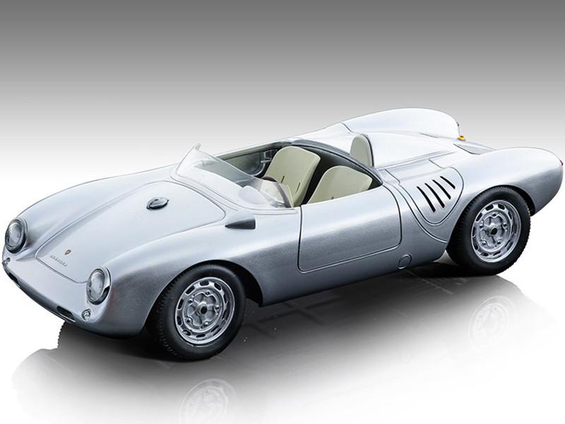 1957 Porsche 550 A Silver Press Version Mythos Series Limited Edition 90 pieces Worldwide 1/18 Model Car Tecnomodel TM18-141D