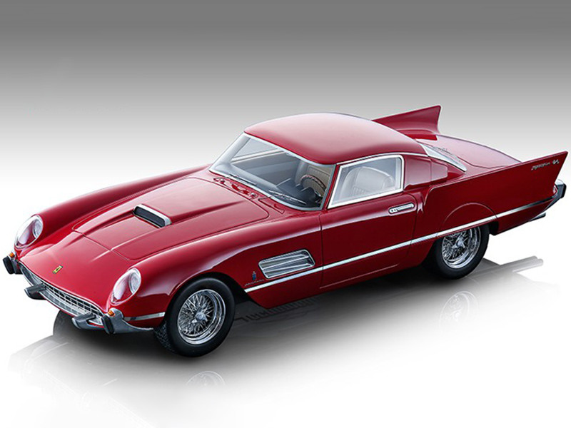 1956 Ferrari 410 Super Fast 0483SA Gloss Ferrari Red Mythos Series Limited Edition 170 pieces Worldwide 1/18 Model Car Tecnomodel TM18-160B