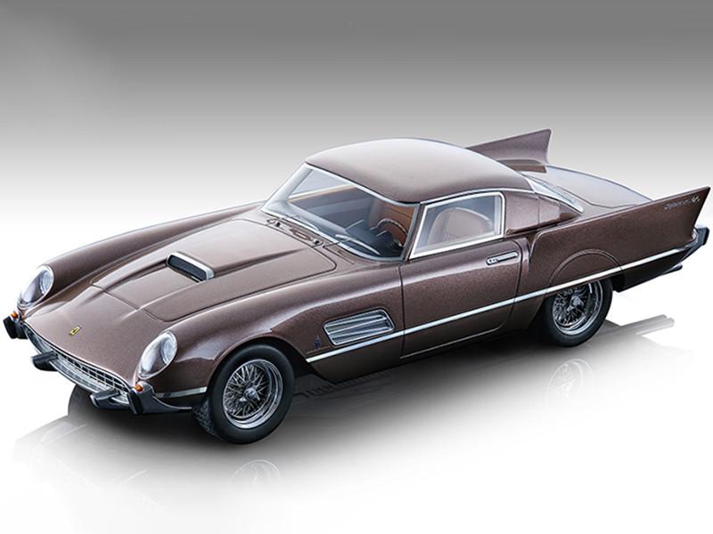 1956 Ferrari 410 Super Fast 0483SA Metallic Bronze Mythos Series Limited Edition 70 pieces Worldwide 1/18 Model Car Tecnomodel TM18-160D