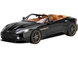 Aston Martin Vanquish Zagato Volante Speedster RHD Right Hand Drive Scorching Black 1/18 Model Car Top Speed TS0216