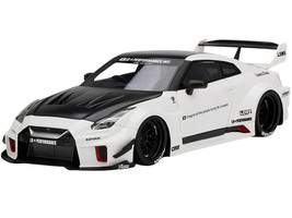 Nissan 35GT-RR LB-Silhouette WORKS GT RHD Right Hand Drive White Black 1/18 Model Car Top Speed TS0298