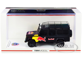 Land Rover Defender Black Red Bull LUKA Promotional Vehicle 1/43 Model Car True Scale Miniatures TSM430322