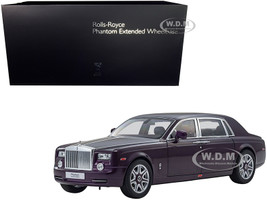 Rolls Royce Phantom Extended Wheelbase Twilight Purple 1/18 Diecast Model Car Kyosho 08841
