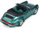 Porsche 911 (964) Carrera 2 Convertible Turbo Look Green Metallic Green Interior Limited Edition 911 pieces Worldwide 1/18 Model Car GT Spirit GT294