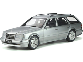 Mercedes Benz S124 E36 AMG Brilliant Silver Metallic Limited Edition 2500 pieces Worldwide 1/18 Model Car Otto Mobile OT889