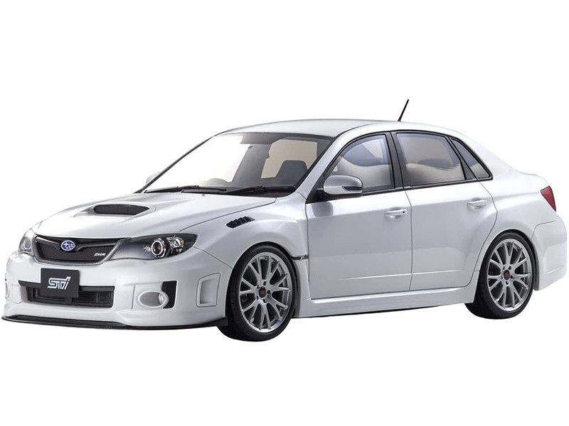 Subaru Impreza STI S206 RHD Right Hand Drive White 1/18 Model Car Otto Mobile Kyosho OTM873