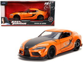 Toyota GR Supra Orange Black Stripes Fast & Furious 9 F9 2021 Movie 1/32 Diecast Model Car Jada 32016