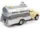 1957 Chevrolet Septic Tanker Truck Montgomery Septic Drain Service Sand Beige Silver 1/87 HO Scale Model Classic Metal Works 30604