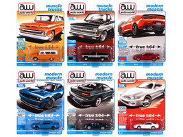 Autoworld Premium 2021 Set B of 6 pieces Release 1 1/64 Diecast Model Cars Autoworld 64302 B