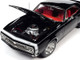 1967 Chevrolet Camaro Yenko SS 427 Hardtop Tuxedo Black Red Interior American Muscle 30th Anniversary 1/18 Diecast Model Car Autoworld AMM1247