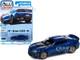 2018 Chevrolet Camaro ZL1 Hyper Blue Metallic Modern Muscle Limited Edition 13000 pieces Worldwide 1/64 Diecast Model Car Autoworld 64302 AWSP059 A