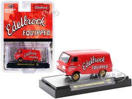 1964 Ford Econoline Van Gasser Bright Red Edelbrock Equipped Limited Edition 4620 pieces Worldwide 1/64 Diecast Model Car M2 Machines 31600-GS07