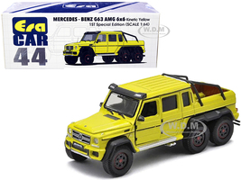 Mercedes Benz G63 AMG 6x6 Pickup Truck Kinetic Yellow 1st Special Edition 1/64 Diecast Model Car Era Car MB206X6RF44