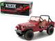 1981 Jeep CJ-7 Animal Preserve Red Dirty Version The A-Team 1983 1987 TV Series 1/18 Diecast Model Car Greenlight 19091
