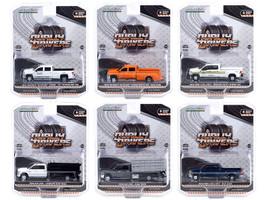 Dually Drivers Set of 6 Trucks Series 6 1/64 Diecast Model Cars Greenlight 46060