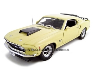 1969 Ford Mustang Boss 429 Yellow 1/24 Diecast Car Unique Replicas 18645