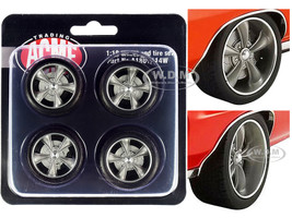 Street Fighter Torque Thrust Wheel Tire Set 4 pieces 1970 Pontiac GTO Street Fighter The Prosecutor 1/18 ACME A1801214W
