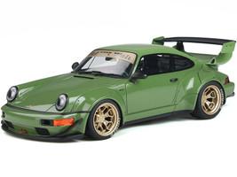 Porsche RWB Body Kit Atlanta Green Gold Wheels RAUH-Welt BEGRIFF 1/18 Model Car GT Spirit GT812