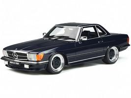 Mercedes Benz 560 AMG R107 Midnight Blue Metallic 1/18 Model Car Otto Mobile OT342