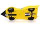 Shooting Star #9 Yellow Racer X Figurine Speed Racer Anime Series 1/18 Diecast Model Car Autoworld AWSS125