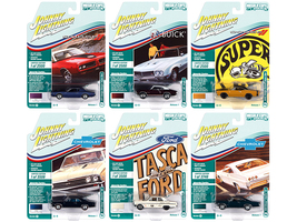 Muscle Cars USA 2021 Set B of 6 Cars Release 1 1/64 Diecast Model Cars Johnny Lightning JLMC025 B