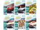 Muscle Cars USA 2021 Set B of 6 Cars Release 1 1/64 Diecast Model Cars Johnny Lightning JLMC025 B
