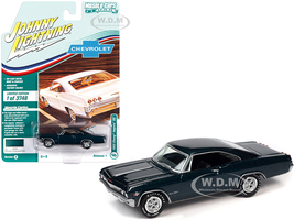 1965 Chevrolet Impala SS Tahitian Turquoise Metallic Limited Edition 3748 pieces Worldwide Muscle Cars USA Series 1/64 Diecast Model Car Johnny Lightning JLMC025 JLSP140 B