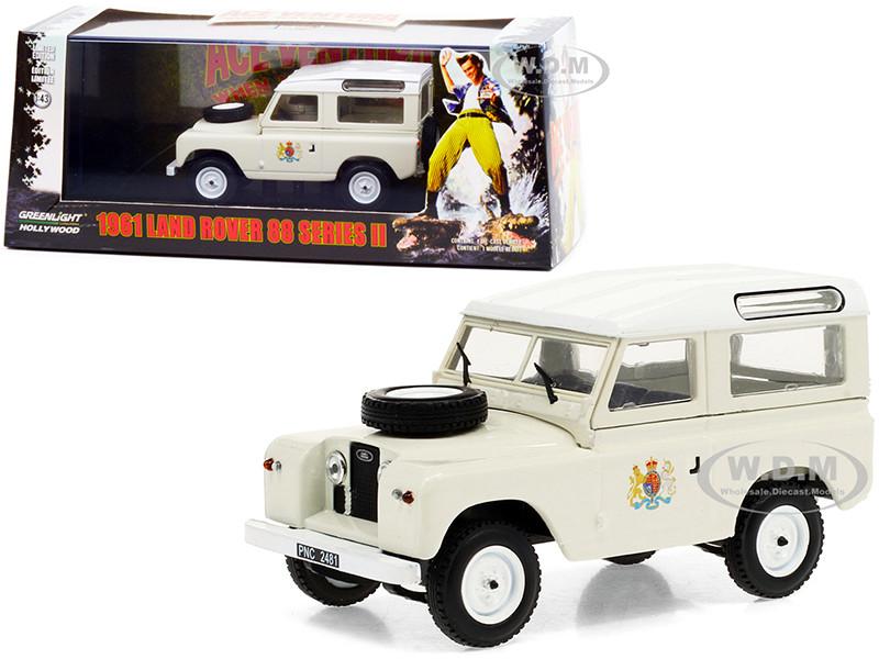 1961 Land Rover 88 Series II Station Wagon Cream White Top Ace Ventura 2 When Nature Calls 1995 Movie 1/43 Diecast Model Car Greenlight 86562