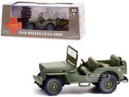 1949 Willys CJ-2A Jeep Army Green MASH 1972 1983 TV Series 1/43 Diecast Model Car Greenlight 86592