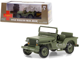 1950 Willys M38 Jeep Army Green MASH 1972 1983 TV Series 1/43 Diecast Model Car Greenlight 86594