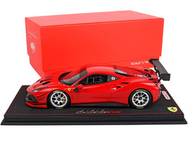 2020 Ferrari 488 Challenge EVO Rosso Corsa 322 Red DISPLAY CASE Limited Edition 60 pieces Worldwide 1/18 Model Car BBR P18186E