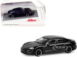 Porsche Taycan Turbo S Black 1/87 HO Diecast Model Car Schuco 452655900