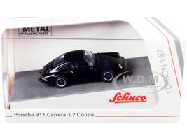 Porsche 911 Carrera 3.2 Coupe Black 1/87 HO Diecast Model Car Schuco 452656300